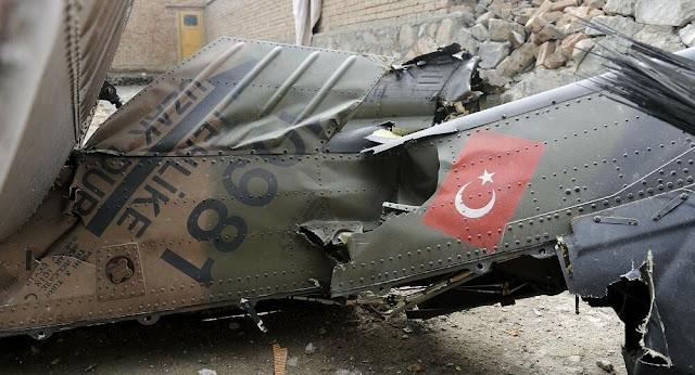 Συνετρίβη στρατιωτικό ελικόπτερο στην Τουρκία - 9 νεκροί και 4 τραυματίες