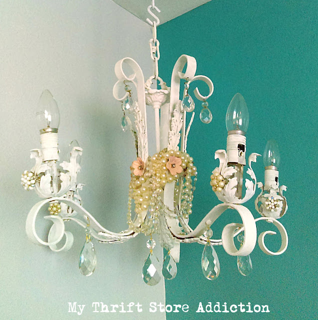 chandelier upcycle