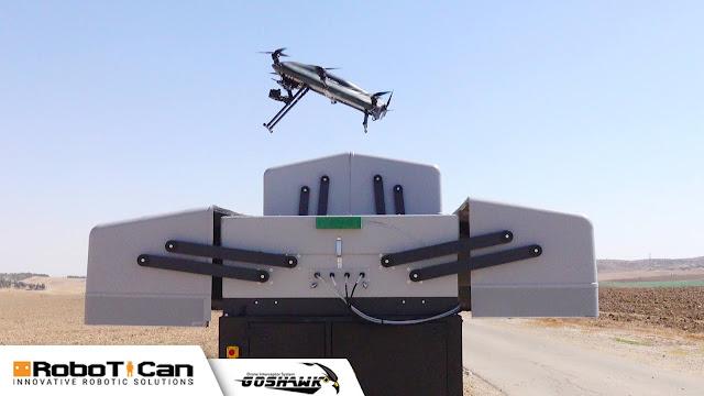 Autonomous Goshawk Interceptor Launch toward a target drone from the Smart NEST launch pad