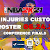 NBA 2K21 NO INJURIES CUSTOM ROSTER 06.24.21 CONFERENCE FINALS [FOR ALL VERSIONS OF 2K21]