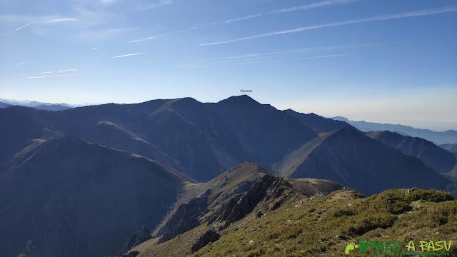 Vista del Vízcares desde el Pico Cunio
