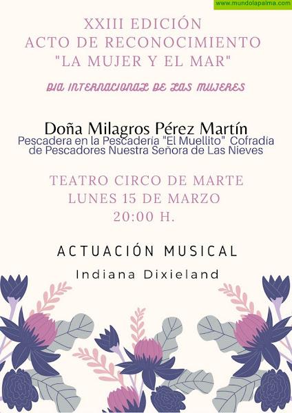 Santa Cruz de La Palma reconoce a la pescadera Milagros Pérez Martín como Mujer Destacada del Municipio 2021