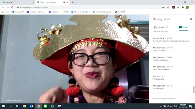 Siger Lampung worn by Google Local Guides @indahnuria during virtual meet up