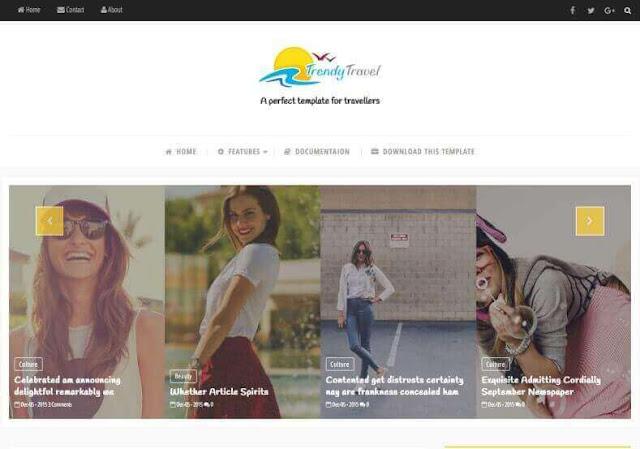 Trendy Travel  Seyahat Blogger Teması