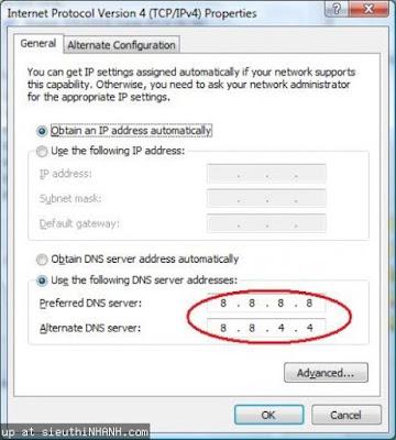 Chỉnh sửa DNS chuẩn để vào facebook nhanh hơn