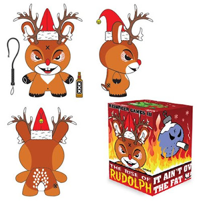 "Reindeer Games III Rise of Rudolph Holiday Dunny 3"" Vinyl Figure by Frank Kozik x Kidrobot"