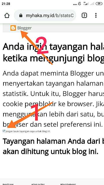 Menonaktifkan tayangan halaman blog sendiri