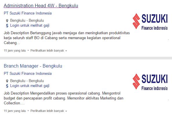 Lowongan Kerja Kota Bengkulu Tengah Terbaru 2019