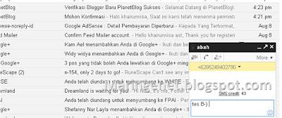 Cara Mengirim SMS Gratis Lewat Gmail