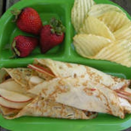 Apple and Chicken Crepes