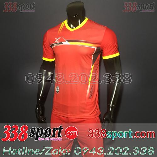 Áo Bóng Đá Không Logo Hot Zavikia LoCo STA01 Đỏ