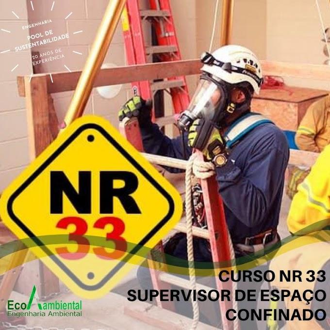 CURSO NR 33 -SUPERVISOR DE ESPAÇO CONFINADO