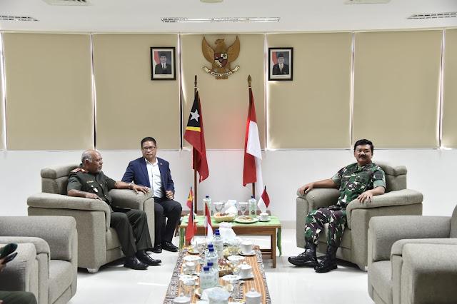 Panglima TNI Bertemu Pangab Timor Leste di Pos Lintas Batas Motaain NTT
