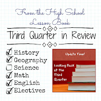 From the High School Lesson Book - Third Quarter in Review on Homeschool Coffee Break @ kympossibleblog.blogspot.com