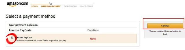Pembayaran Dengan Amazon Paycode
