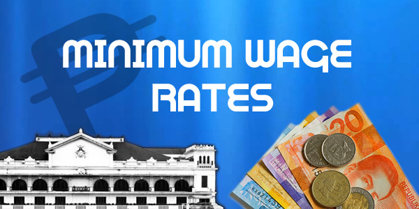 List of job minimum wage rates in the Philippines 2017