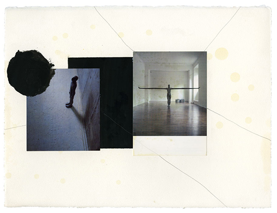 Anthony Gormley Levels, 1997 Collage, printed card, pencil and black pigment on paper 29 x 38 cm