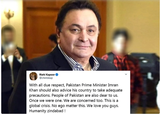 Corona Effect / Rishi Kapoor worried about the persecution of Pakistanis, said - Imran should also alert citizens