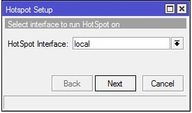 Hotspot interface mikrotik