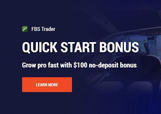 Bonus Forex Tanpa Deposit FBS $100 - Quick Start Bonus