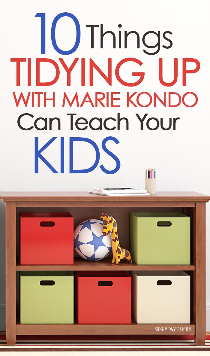 Can your KIDS get on board with tidying up? Yes! Marie Kondo's Konmari method of decluttering is perfect for kids. See what tidying up can teach your kids and how it can transform your family. #declutter #mariekondo #konmari #organizedhome #tidyingup #parenting
