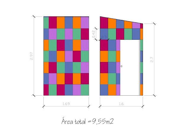 estudo das dimensões das paredes feito por Carina Pedro