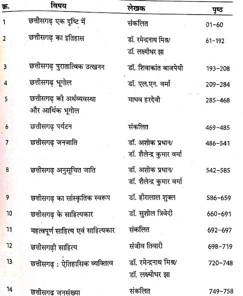 Samagra Chhattisgarh Book