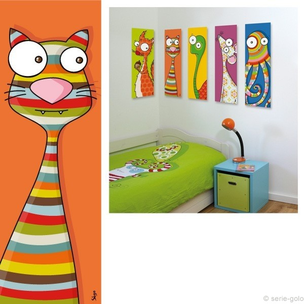 yo no fui cuadros infantiles animales solos. Black Bedroom Furniture Sets. Home Design Ideas