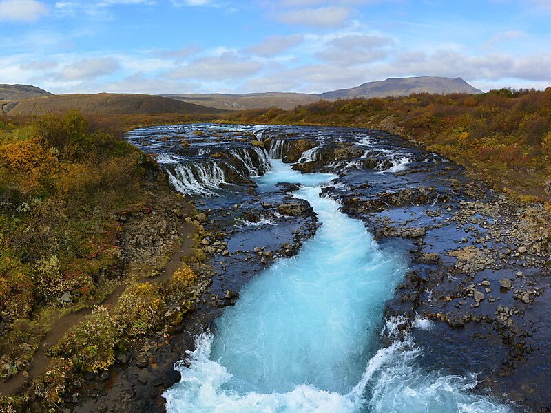 Bruarfoss waterfall