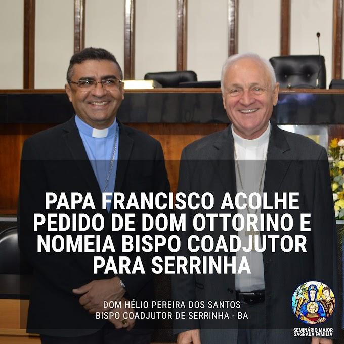 Papa Francisco nomeia Dom Hélio Pereira como Bispo Coadjutor de Serrinha, futuro substituto de Dom Ottorino Assolari