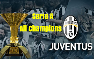 Italian Football League,  Serie A, Champions, Winners, finals, results, list, by Year.