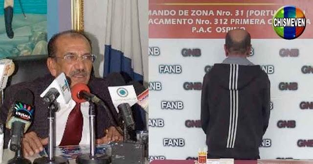 Gobernador Chaburro Ramón Martínez fue detenido en Portuguesa por varios delitos