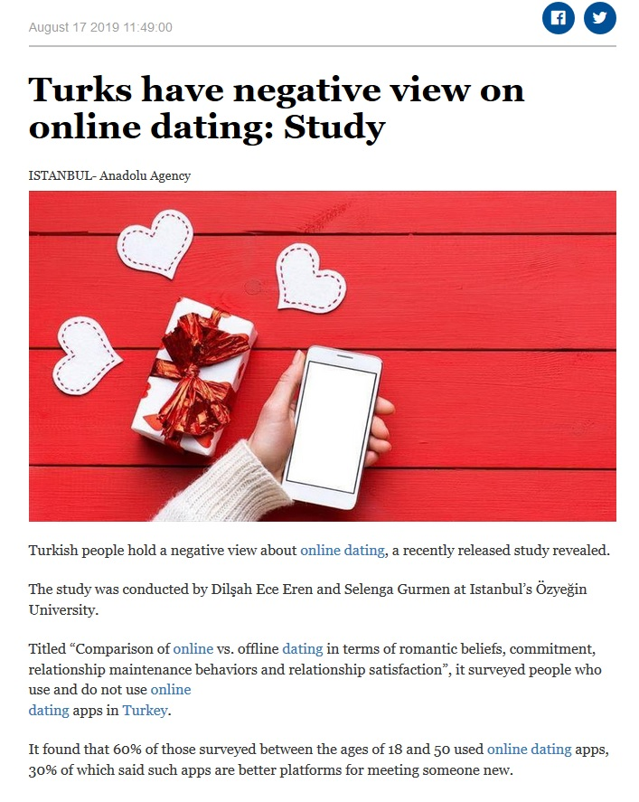 Online vs offline dating
