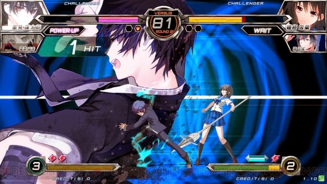 Karakter Anime Black Bullet dan Strike the Blood di Dengeki Bunko Fighting Climax