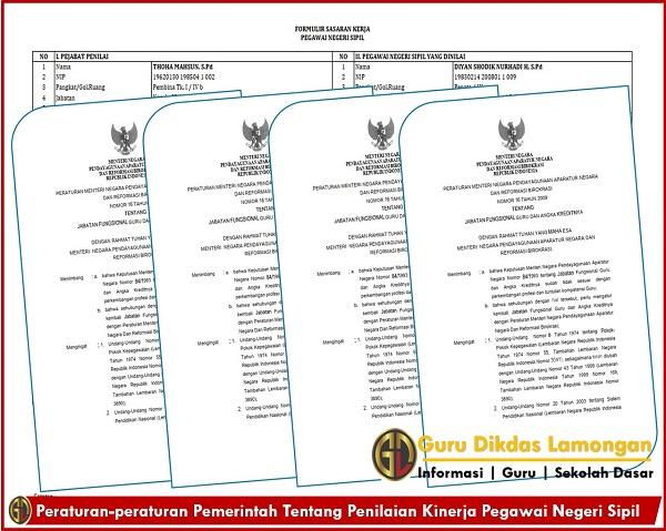 Peraturan-peraturan Pemerintah Tentang Penilaian Kinerja Pegawai Negeri Sipil