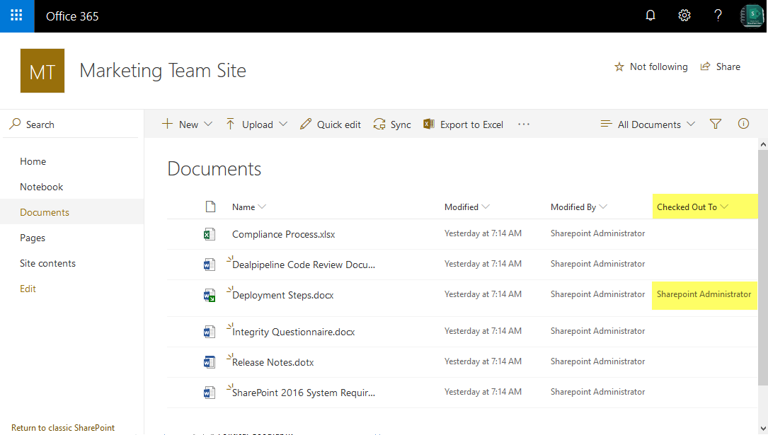 sharepoint online powershell get checked out files