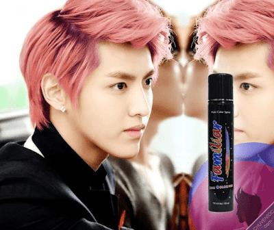 Hình ảnh keo xịt tóc màu familiar pink orange ( cam hồng )