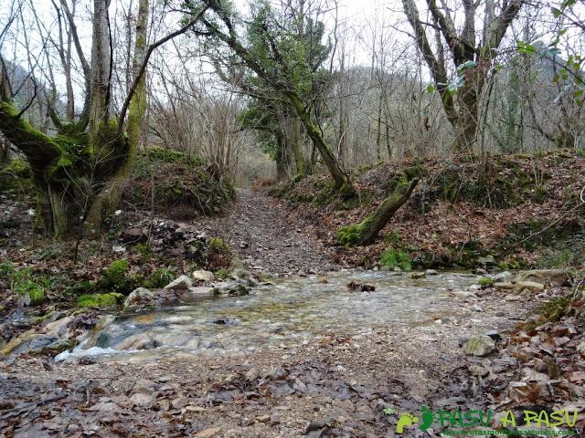 Ruta al Pico Castillo y la Rozada: Cruzando río Caunedo