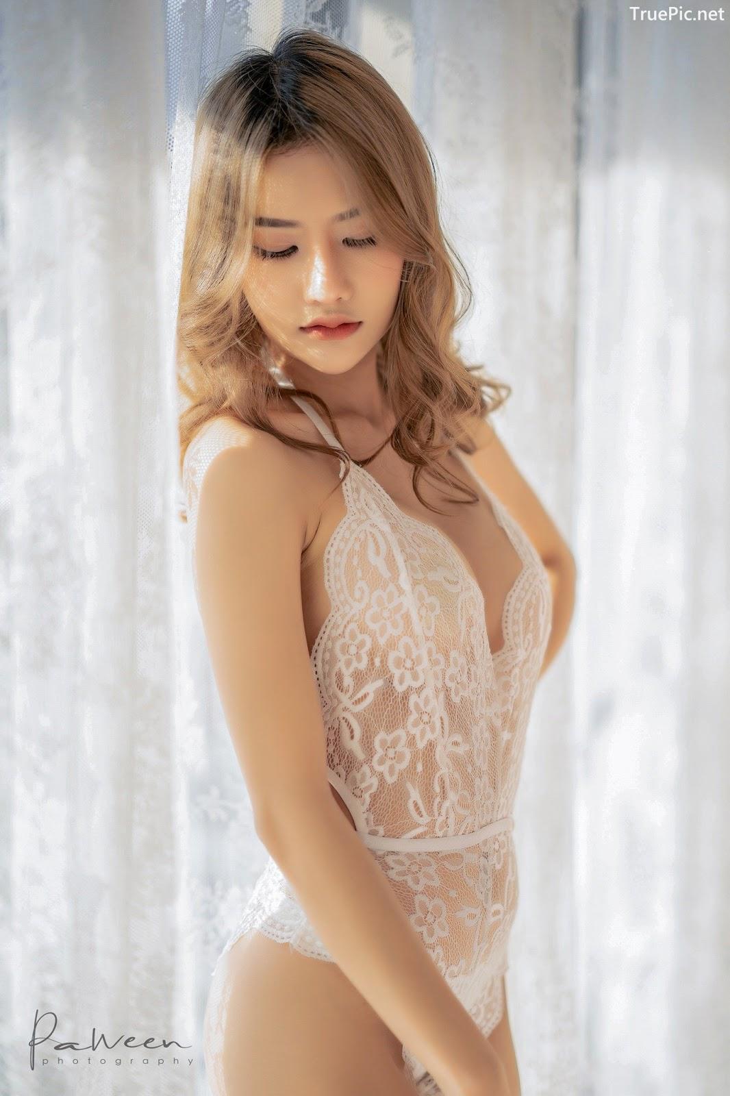 Image Thailand Model - Atittaya Chaiyasing - White Lace Lingerie - TruePic.net - Picture-4