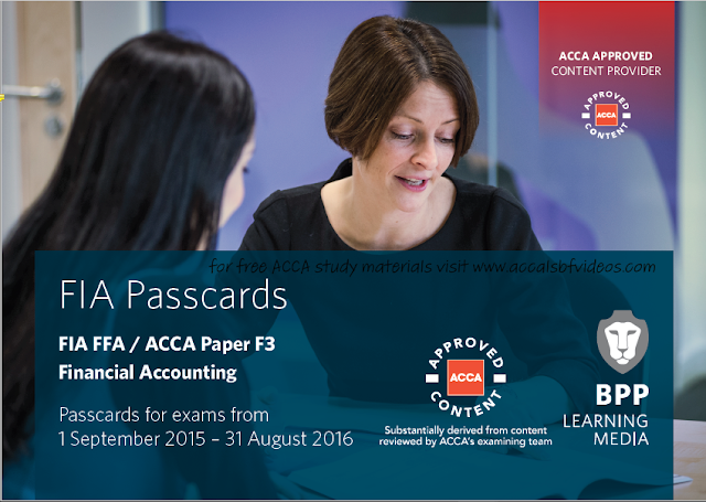 ACCA F3 PassCards 2016   FREE ACCOUNTING B00KS