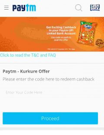 Paytm Kurkure Cashback Offer Redeem Coupon Code– Get Free ₹10/20/35 For New Kurkure Packs