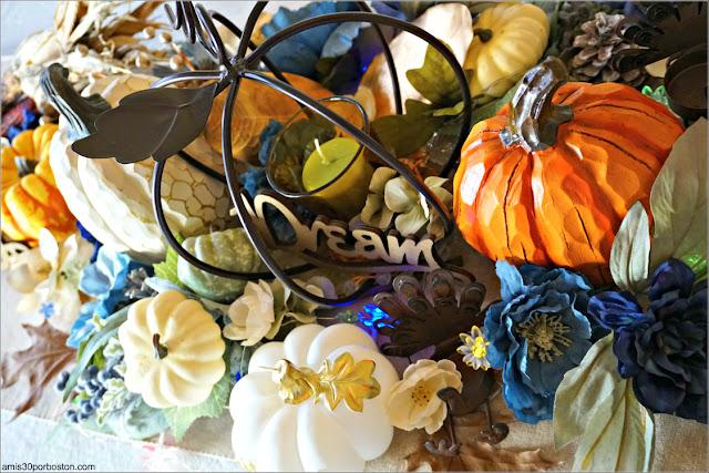 Decoraciónes de la Mesa durante nuestra Cena de Acción de Gracias en Boston