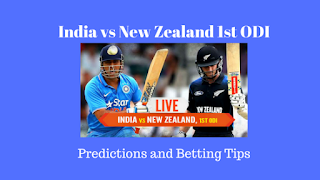 India vs New Zealand 1st ODI Predictions and Betting Tips for Today Match
