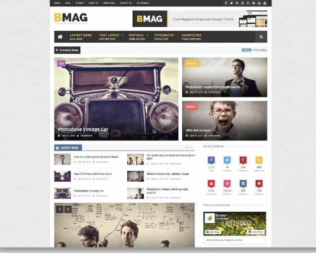 BMag Blogger templates