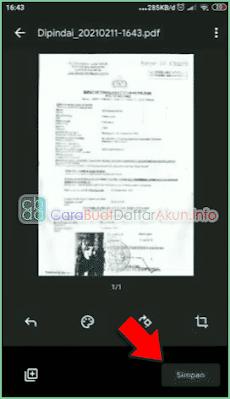 cara membuat pdf di CamScanner