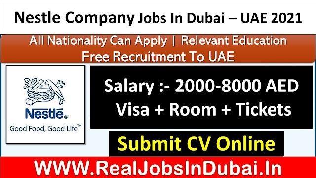 Nestle Hiring Staff In Dubai  UAE 2021