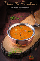 Tomato Sambar (without coconut)