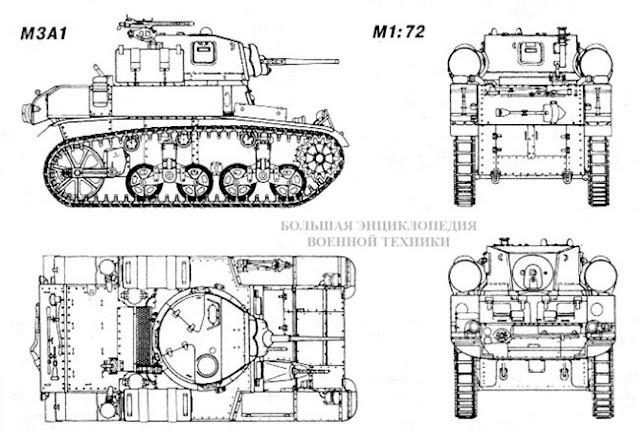 Общий вид американского легкого танка Light Tank M3/M5 General Stuart
