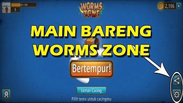 Cara Main Bareng Game Zona Cacing Worms Zone io