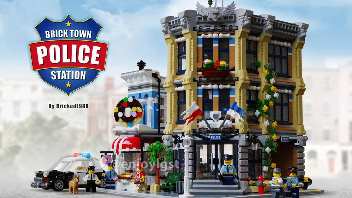 レゴアイデアで『ブリックタウン警察署』が製品化レビュー進出!2020年第3回1万サポート獲得デザイン紹介